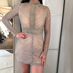 Boohoo Crochet Bodycon Dress